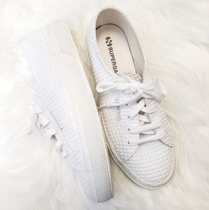 Superga white pyramid trainer sneakers sz. 38